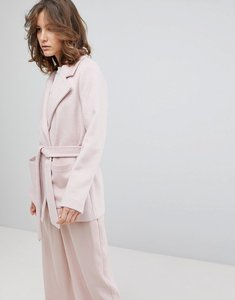 Read more about Selected cropped trench coat - pink