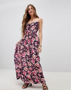 Read more about Band of gypsies tie front maxi dress in floral print