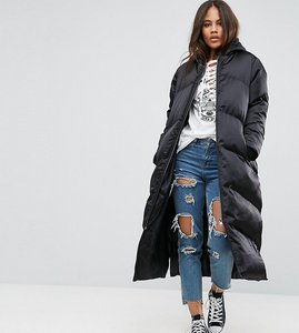 Read more about Asos tall longline puffer coat - black
