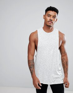 Read more about Asos sleeveless t-shirt in inject fabric with racer back - off white