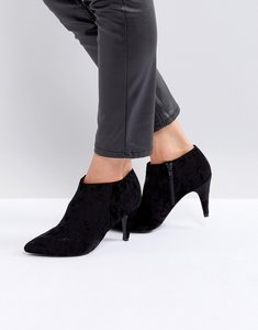 Read more about New look velvet point ankle boot - black
