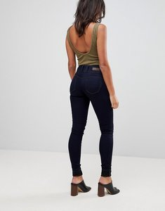 Read more about Salsa mystery bum sculpt high waist skinny jean - dark wash blue
