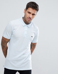 Read more about Lacoste slim fit logo polo shirt in sky blue - t01