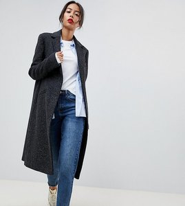 Read more about Asos tall slim coat in wool blend - charcoal
