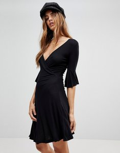 Read more about Brave soul holly wrap dress - black