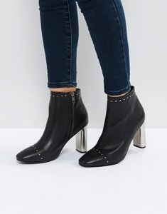 Read more about Sol sana alicia black studded heeled ankle boots - black