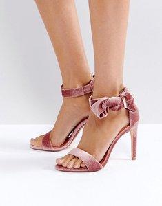 Read more about Ted baker torabel bow mink velvet heeled sandals - mink velvet