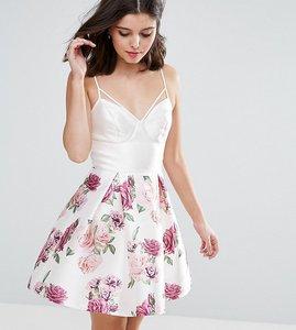 Read more about Chi chi petite corset top cami mini dress in floral print - multi