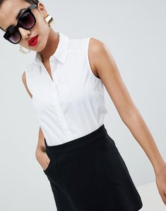 Read more about Asos sleeveless shirt - white
