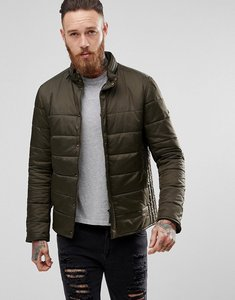 Read more about Barbour international slim fit cusp padded jacket with concealed hood in olive - olive