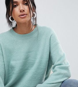 Read more about Asos tall chunky oversized jumper - blue