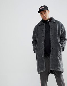 Read more about Asos borg overcoat in charcoal - grey marl
