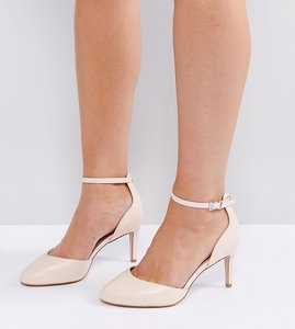 Read more about Asos swallow wide fit heels - nude