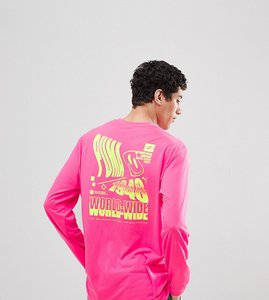 Read more about Puma long sleeve t-shirt with graphic print in pink exclusive to asos - pink