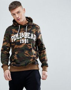Read more about Pull bear hoodie with logo in camo - camo