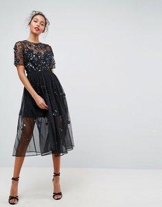 Read more about Asos embellished smock midi dress - black