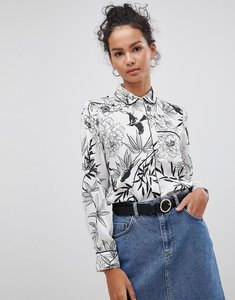 Read more about Glamorous floral shirt - white black floral