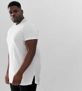 79cf10656ef4 Read more about Asos design plus longline t-shirt with side splits in white