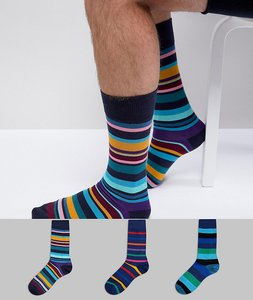 Read more about Paul smith stripe socks 3 pack - multi