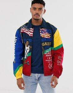 Read more about Polo ralph lauren bayport stadium poster print harrington jacket in multi