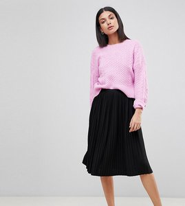 Read more about Missguided tall pleated midi skirt - black