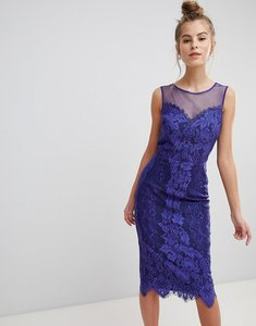 Read more about Little mistress lace bodycon dress - cobalt