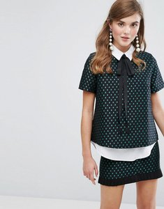 Read more about Sister jane buttonless shirt in woven star - black