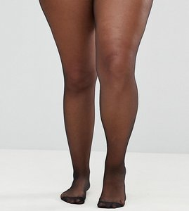Read more about Asos curve new improved fit 15 denier tights - black