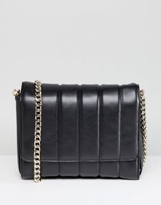 Read more about French connection large quilted crossbody bag - black