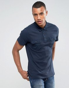 Read more about Abercrombie fitch military muscle slim fit polo jersey in navy - navy