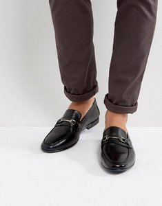Read more about Kg by kurt geiger melton loafers in black leather - black