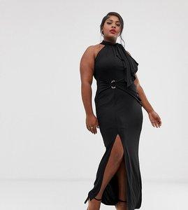 Read more about Coast plus naomi halterneck maxi dress wth side slit