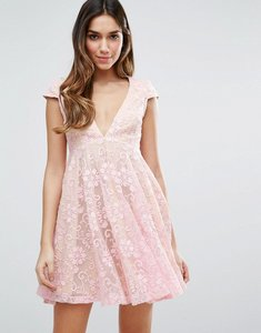 Read more about Jarlo lace mini tea dress - pink