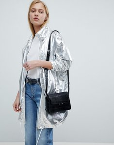 Read more about Dr denim metallic zip through jacket - silver