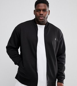Read more about Polo ralph lauren plus double knit jersey bomber in black - polo black