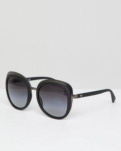 Read more about Emporio armani 0ea2058 oversized round sunglasses in black 53mm - black