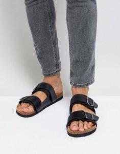 Read more about Brave soul double strap sandals in black - black