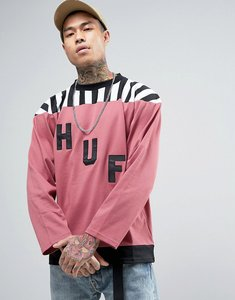 Read more about Huf long sleeve t-shirt with large logo - pink