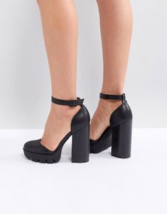 Read more about Asos omini heeled shoes - black