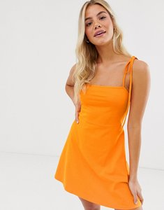 Read more about Asos design mini square neck dress with tie straps