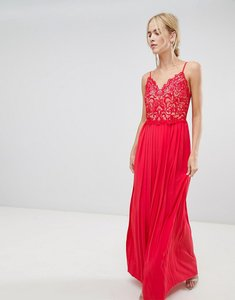 Read more about Little mistress pleat skirt maxi dress - red poppy