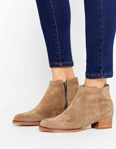 Read more about H by hudson mid heel leather festival boot - natural suede