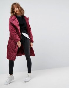Read more about Asos midi puffer coat - berry