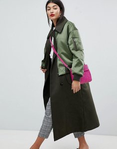 Read more about Asos coat with bomber detail - multi