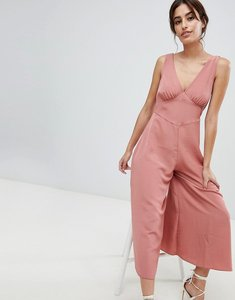 Read more about Asos design sleeveless tea jumpsuit - rosewood