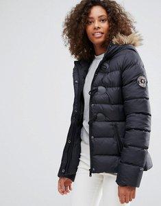 Read more about Brave soul short padded coat - black