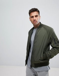 Read more about Boss nylon bomber jacket in khaki - 302