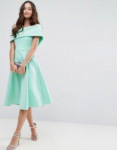 Read more about Asos scuba bardot midi prom dress - mint