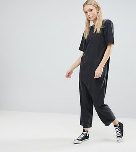Read more about Asos tall minimal jumpsuit with dropped crotch - black