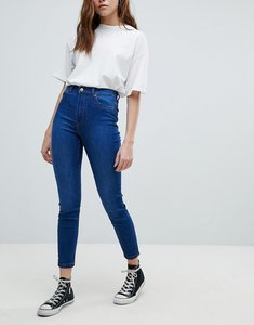 Read more about Bershka skinny high waist jean - dark blue